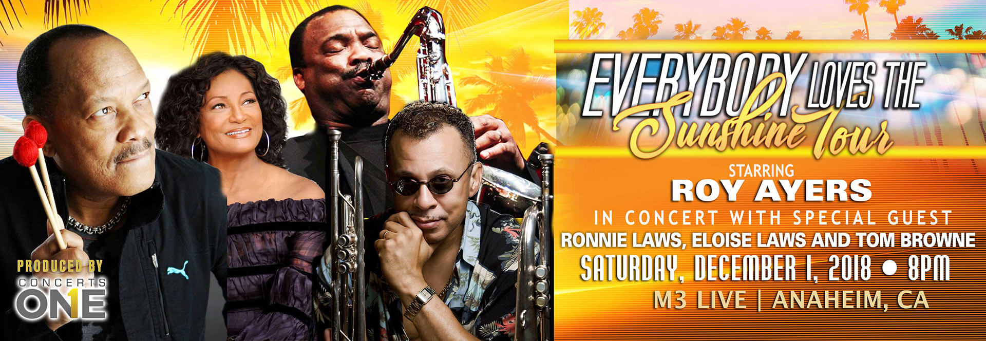 Everybody Loves the Sunshine Concert Tour Starring Roy Ayers, Ronnie Laws.